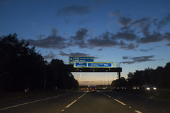 M62 Westbound (new folder) Tags: liverpool typography m62 westbound motorway fromthecar dusk sunset