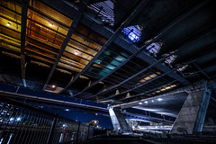 Under the Zakim (TomBerrigan) Tags: boston mass zakim bridge architecture massachusetts new england night