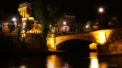 night stroll through Strasbourg (lunaryuna) Tags: france lalsace strasbourg night nighttime nightphotography nightlights architecture canal bridge church buildings illumination nightmood walkinthecity farewell lunaryuna le longexposure