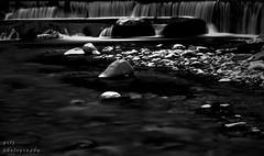 b&w mood... (gregtz) Tags: river dark bw blackandwhite blackwhite water long exposure      stones