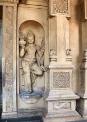 Kelaniya Statue (IMG_2208b) (Dennis Candy) Tags: srilanka ceylon serendip serendib serendipity solosmasthana buddha buddhism kelaniya temple sacred holy culture tradition heritage religion statue niche plinth carving sculpture image art