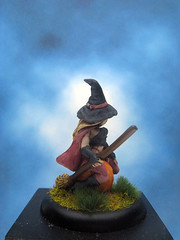 Painted Reaper Miniature Elise Witch. (Painted Miniatures) Tags: painted reaper miniature elise witch