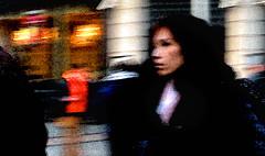 City Rush (Owen J Fitzpatrick) Tags: ojf people photography nikon fitzpatrick owen j joe pretty pavement chasing d3100 ireland editorial use only ojfitzpatrick eire dublin republic city tamron oconnell unposed social walk pedestrian beauty beautiful attractive woman female brunette asian centre asiatica eastern black street face shops rush candidphotography natural candidphoto