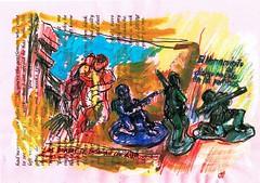 PROYECTO 132-81 (GARGABLE) Tags: sketch drawings dibujos juguetes jouets angelbeltrán apuntes gargable lápicesdecolores pluma uniposca rotulador