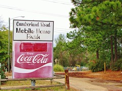 Cumberland Road Mobile Home Park (Gerry Dincher) Tags: cumberlandcounty northcarolina cumberlandroad fayetteville cocacolasign cocacola cokesign coke red cumberlandroadmobilehomepark gerrydincher