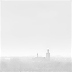 Winter view (Luc B - PhLB) Tags: roof winter two white mist snow pope tower church square high key empty foggy double venlo highkey today mostly array kerktoren blerick torenspits heiig abdication lambertuskerk setnieuw phlb zichtopblerickvanuitvenlo venlowest