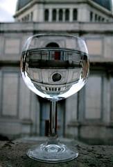 In cielo, in terra ed in ogni luogo (meghimeg) Tags: reflection church water glass chiesa explore genova cupola acqua bicchiere riflesso 2013