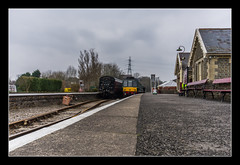 View down the platform at Bitton (Travels with a dog and a Camera :)) Tags: uk england southwest west heritage station digital photoshop bristol dc pentax unitedkingdom south platform sigma railway trains andrew gloucestershire valley rails 1020mm avon bennett febuary 43 k5 bitton lightroom southgloucestershire avonvalleyrailway andrewbennett cs6 2013 1456 heritagerailway justpentax sigma1020mm1456dc pentaxk5 photoshopcs6 lightroom43