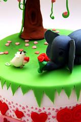 San Valentino - DSC_4159 (SaleCaramello) Tags: elephant flower love cake hearts mouse heart valentine cuori cuore amore torta elefante topolino sanvalentino cupido 14febbraio 14thfebruary pastadizucchero