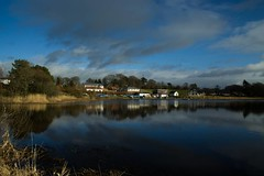 Castle Loch Marina CPL (JamesGMCC) Tags: blue lake water clouds marina reflections filter richness loch depth cpl polarizing