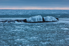 In a sea of ice (RSBurnsIM) Tags: winter sunset ice water minnesota photography south pack workshop february campground mn lakesuperior grandmarais