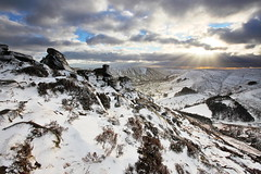 Kinder In The Snow (matrobinsonphoto) Tags: winter light sunset sun sunlight mountain snow ice rock hope frozen frost walk plateau heather district hill peak scout kinder formation valley roger knoll nab clough ringing edale grindslow grindsbrook