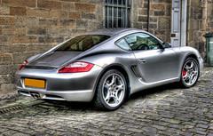 Porsche Cayman S rear (elementalPaul) Tags: car silver scotland edinburgh pentax tripod porsche cobbles hdr photomatixpro 5xp porschecaymans k10d pentaxk10d
