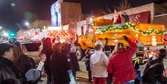 Santa Claus is coming to Van Buer Plaza by City of DeKalb plow truck along with Mayor Povlsen!