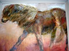 Duncan Rice Painting Princetown Dartmoor (Bridgemarker Tim) Tags: horses paintings ponies dartmoor princetown duncanrice duchyhotel