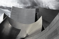 Exterior View of Walt Disney Concert Hall (Barry Wallis) Tags: california blackandwhite bw usa losangeles waltdisneyconcerthall barrywallis
