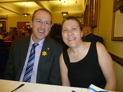 Llyr Huws Gruffydd AM & Philippa Ford (Jenny Francis1) Tags: pain cymru conference plaid partnership 2013 musculoskeletal