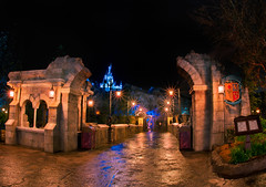 Be Our Guest Restaurant (Tom.Bricker) Tags: night restaurant nikon wdw waltdisneyworld d600 nikond600 newfantasyland