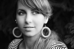 Karin (Norbert Králik) Tags: portrait bw bokeh outdoor karin canoneos5d canonef100mmf28macrousm