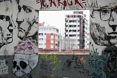 finestra sulla citt (Chiara Stevani) Tags: street city art abandoned graffiti factory place citt fabbrica lereggiane