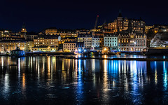 Magic City Sdermalm II (Jens Sderblom) Tags: city winter seascape reflection ice night buildings landscape is cityscape sweden stockholm sdermalm clear sverige scandinavia riddarfjrden riddarholmen sigma1750 reflexioner d7000