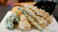 20130328-05-Tempura entree at Orizuru in Hobart (Roger T Wong) Tags: food dinner japanese restaurant australia tasmania hobart tempura orizuru sigma50mmf28exdgmacro sigma50macro canoneos6d