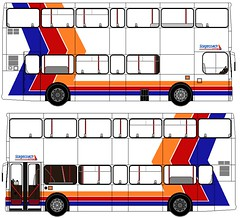 Leyland Olympian  Alexander RL (Drawings By Brendan) Tags: new old blue red orange white bus double stagecoach leyland decker olympian livery 2013
