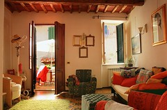 Feeling home in Casa Bressan in Casoli (Bn) Tags: blue trees homes summer vacation sky people italy house holiday mountains green home church beauti