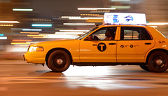 Panning Speeding Taxi - Brooklyn, NY (Diacritical) Tags: newyorkcity brooklyn night taxi panning 135mm f40 iso6400 2013 135mmf2 edny nikond4 sec