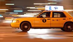Panning Speeding Taxi - Brooklyn, NY (Diacritical) Tags: newyorkcity brooklyn night taxi panning 135mm f40 iso6400 2013 135mmf2 nikond4 sec
