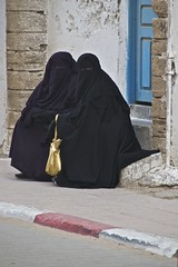 Women in Burqas, Essaouira (Peter Cook UK) Tags: woman eyes women veil muslim islam morocco essaouira burqa