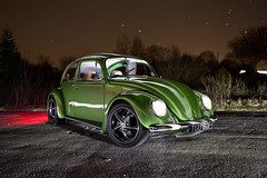 1968 Subaru Beetle ([Nocturne]) Tags: lighting lightpainting green vw bug buzz stars lights country porsche lit nocturne vwbeetle startrails brakelights stickerbomb noctography lightingtrails wwwnoctographycouk