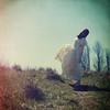 breathless (elle.hanley) Tags: sky woman sun selfportrait art vintage dress wind breeze selfie texturebylesbrumes vivadeva ladymisselle