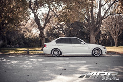 BMW_E90_MRR_GT7_WHEELS_07 (MRR WHEELS) Tags: white silver wheels bmw hyper hs concave bimmer mrr e90 gt7 335i