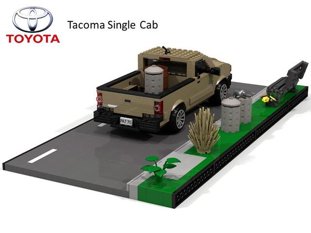 auto car model lego jane time render cab utility pickup ute single toyota tacoma plain cad povray moc ldd miniland lego911 toyotatacomatime
