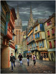 Quimper - Finistre 2013 (Philippe Hernot) Tags: city france bretagne cathdrale kodachrome 29 ville quimper finistre philippehernot mygearandme