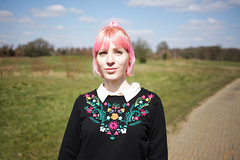 (333Bracket) Tags: flowers sky sun green london girl grass clouds countryside fullframe pinkhair 333bracket canon5dmk2 ef40mmf28stm denahmvillage