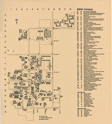 North Dakota State University campus map, 1972