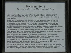 Norman #1 Oil Well Sign (jimmywayne) Tags: historic norman kansas wilsoncounty oilwell neodesha midcontinentfield