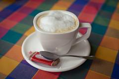Fuel (Michal Soukup) Tags: cup coffee table spring weekend foam espresso cappuccino wafer teaspoon káva kapučíno nikond600 nikkor50mmf14g
