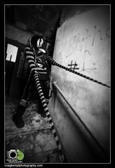 Aardvark (Craig Kempf) Tags: portrait blackandwhite bw weird blackwhite scary stripes gothic goth creepy kingspark kingsparkpsychiatriccenter kppc craigkempf