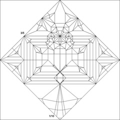 Eupatorus gracilicornus crease pattern (JesseBorigami) Tags: origami pattern beetle crease creasepattern eupatorus gracilicornis