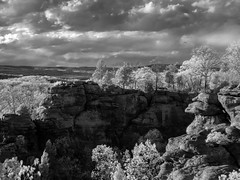 Monkey Face in Infrared (Larry Senalik) Tags: rock illinois spring gardenofthegods formation infrared shawneenationalforest 2013