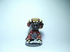 Space Marine (PersianPersuasion) Tags: space marine warhammer warhammer40k 40k 40000 gamesworkshop war citadel miniature figure hand painted converted metallic metal nmm astartes adeptus chapter wargaming tabletop tactical squad veteran first blending 28mm solider infantry science fiction closeup macro paint armour power bolter toy military futuristic white gold red snow base layering