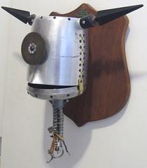 Rex (Rivethead Robotics) Tags: sculpture art trash vintage robot junk recycled assemblage retro robots scifi sciencefiction recycle foundart scrap bot robo junkart mountedhead