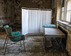 Visiting hours? (Forsaken Fotos) Tags: house abandoned church forgotten greystone mayfield psychiatrichospital urbex kirkbride abandonednj
