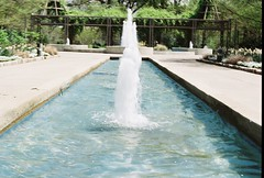 Fountain (HollyBoo) Tags: film water fountain analog 35mm memphis botanicgarden olympusom1 memphisbotanicgarden