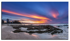 rainbow bay sunset panorama (Jayde Aleman) Tags: sunset panorama goldcoast snapperrocks rainbowbay 24105mm littlemarley canon5dmkiii