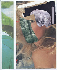 Parade (Laurie McCall) Tags: trees art girl face look collage stone modern lady illustration vintage magazine paper book design eyes cornwall artist graphic crystal head handmade cut contemporary paste glue retro parade blonde stare laurie recycle gem decoupage mccall