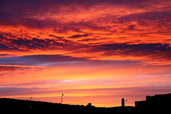 Sheffield Sunset (matrobinsonphoto) Tags: city light sunset sky orange sun sunlight colors beautiful clouds dark skyscape evening colorful cityscape colours purple bright dusk south sheffield yorkshire colourful